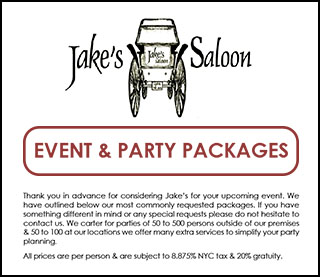 Jake's Party Packages
